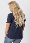 Granatowy T-shirt Genilin