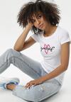 Biały T-shirt Nyshophia