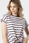 Biało-Różowy T-shirt Tanianea