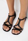 Czarne Sandały Aelila