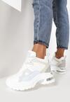 Białe Pastelowe Sneakersy Thefer