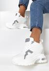 Biało-Szare Sneakersy Thefer
