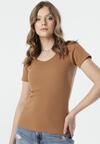 Brązowy T-shirt Blomsea