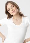 Kremowy T-shirt Blomsea