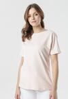 Jasnoróżowy T-shirt Laigana