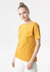 Camelowy T-shirt Laigana