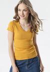 Camelowy T-shirt Aegameda