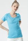 Niebieski T-shirt Ananore