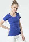 Granatowy T-shirt Ananore