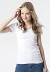 Biały T-shirt Ananore