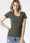 Ciemnozielony T-shirt Ananore