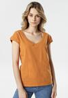 Camelowy T-shirt Luaphis