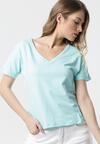 Jasnoniebieski T-shirt Wrafdiff