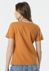 Jasnobrązowy T-shirt Wrafdiff