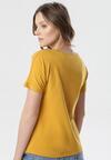 Camelowy T-shirt Wrafdiff