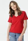 Czerwony T-shirt Wrafdiff