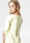 Jasnożółta Sukienka Eleynard