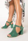Miętowe Sandały Hidia