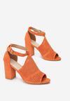 Pomarańczowe Sandały Morecine