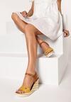 Żółte Sandały Leunome
