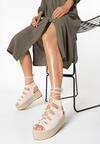 Beżowe Sandały Synasia
