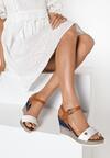 Białe Sandały Viviemala