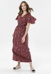 Bordowa Sukienka Calipea