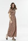 Ciemnobeżowa Sukienka Calipea