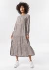Ciemnobeżowa Sukienka Morecine