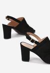 Czarne Sandały Zelidorise