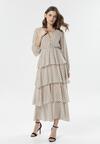 Jasnobeżowa Sukienka Metimisia