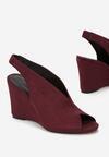 Bordowe Sandały Kimonome