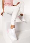 Biało-Różowe Sneakersy Acapheu