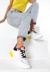Biało-Żółte Sneakersy Acapheu