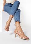 Beżowe Sandały Parneira