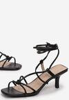 Czarne Sandały Parneira