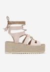 Beżowe Sandały Chelda
