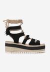 Czarne Sandały Chelda