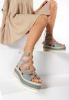 Miętowe Sandały Chelda