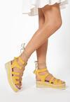 Żółte Sandały Chelda