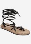 Czarne Sandały Eirereida