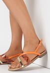 Pomarańczowe Sandały Physatai