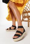 Czarne Sandały Ilapise