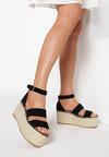 Czarne Sandały Avarith