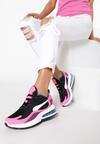 Czarno-Różowe Sneakersy Daeilina