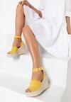 Żółte Sandały Helinia