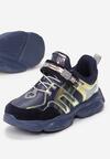 Niebieskie Buty Sportowe Nariciane