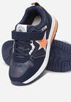 Niebiesko-Pomarańczowe Buty Sportowe Himerelia