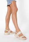 Beżowe Sandały Thessarinda