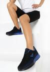 Czarno-Niebieskie Buty Sportowe Kynelle